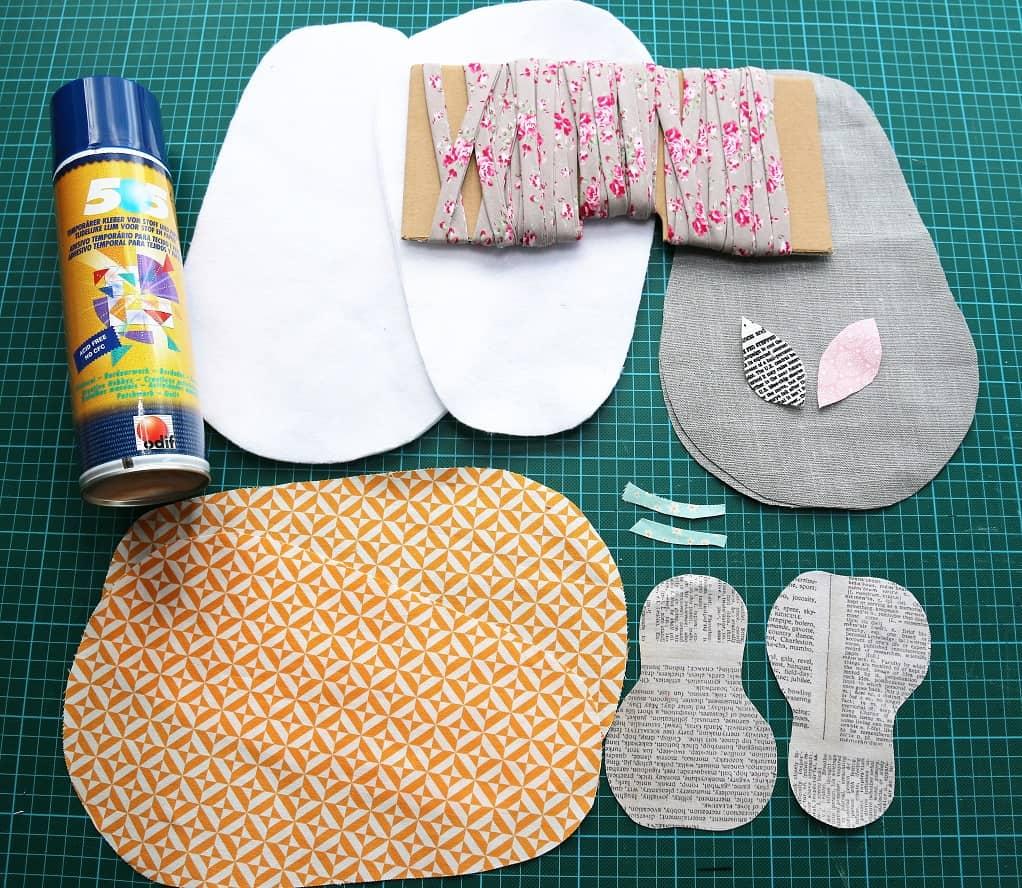 Birnen-Topflappen nähen - Stoffe zuschneiden