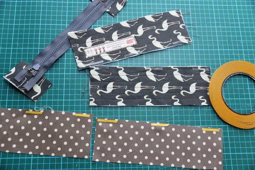 Tasche mit Reißverschluss nähen - Stylefix anbringen