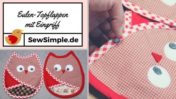 Eulen-Tofplappen mit Eingriff - SewSimple.de