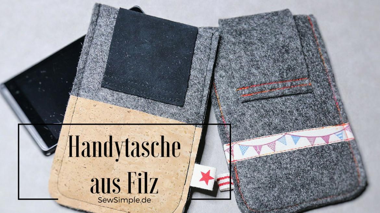 Handytasche aus Filz - SewSimple.de