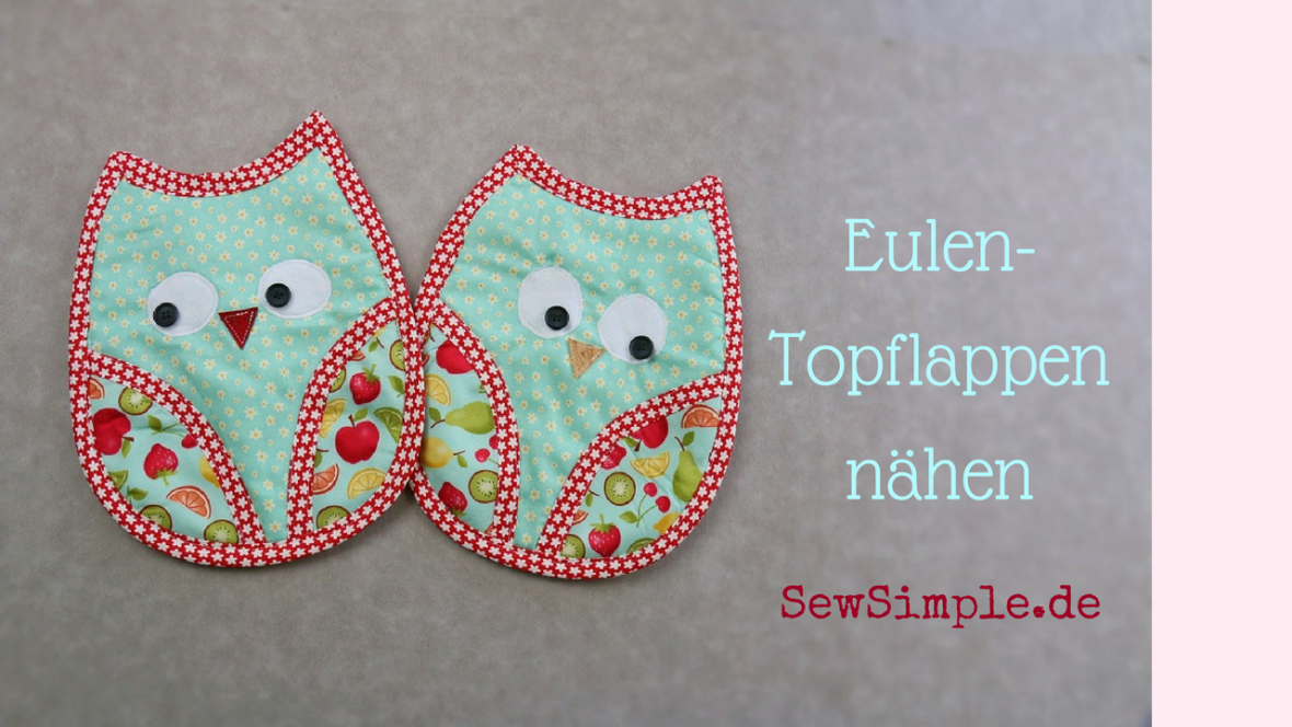 Eulen-Topflappen - SewSimple.de