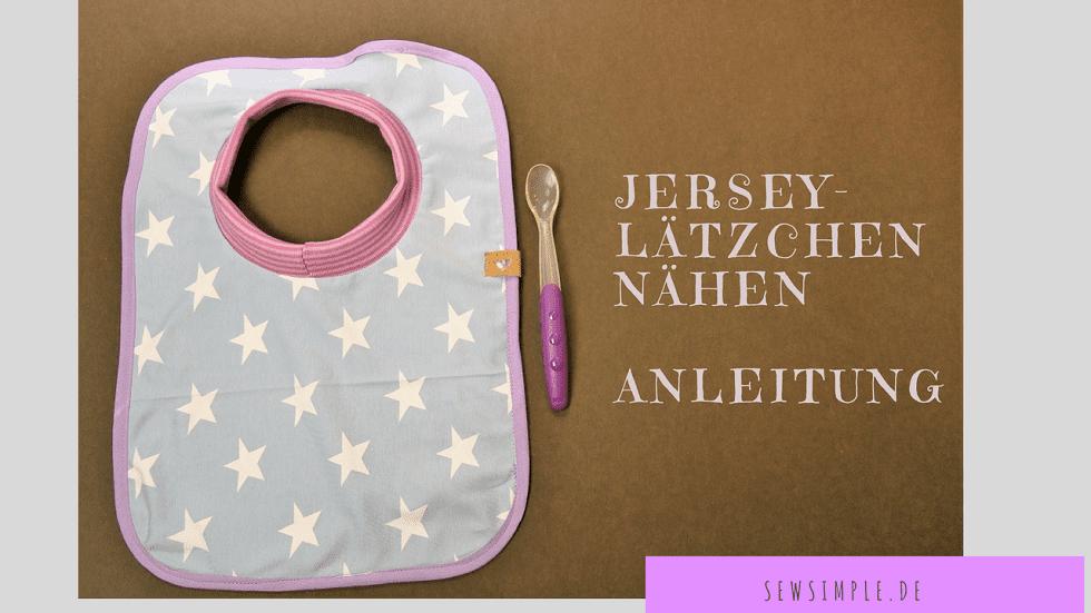 Jersey-Lätzchen nähen | Video-Anleitung & Schnittmuster | SewSimple