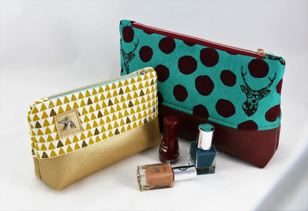 Kosmetiktasche mit Kunstleder