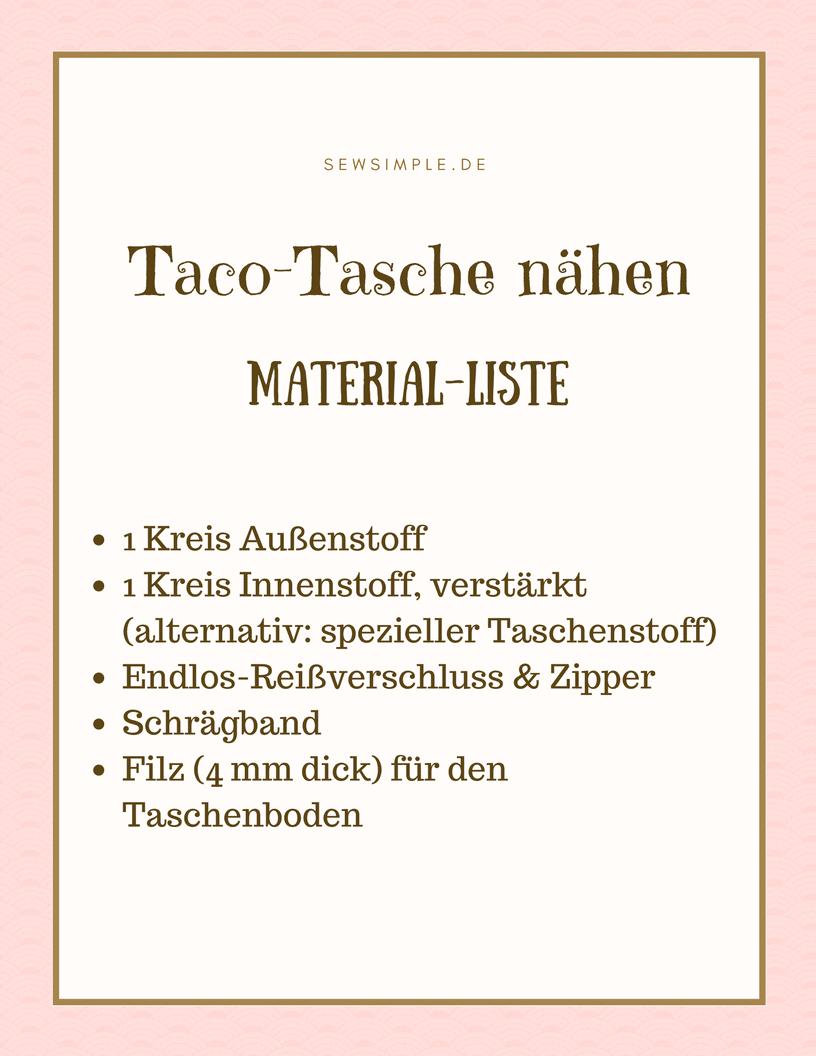 Taco-Tasche nähen