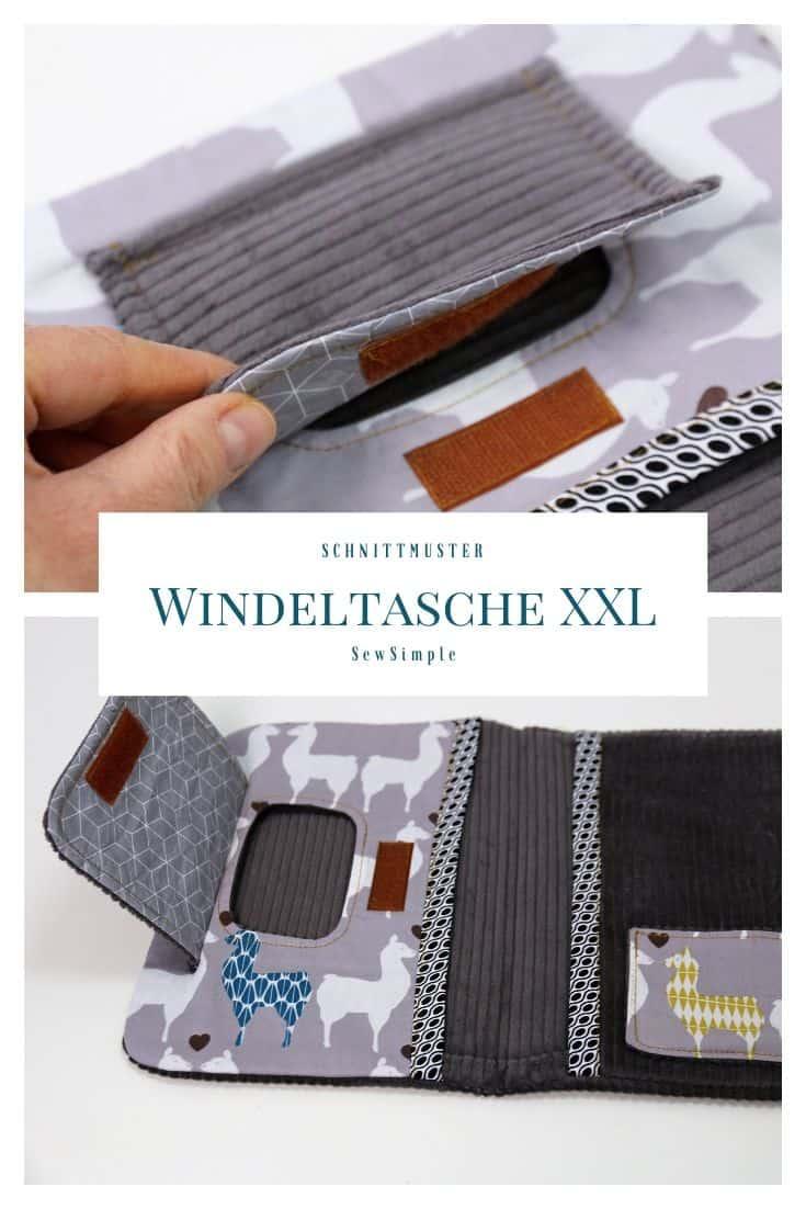 Windeltasche XXL nähen
