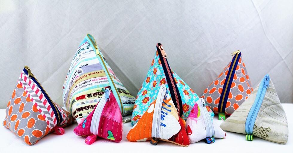 Pyramiden-Täschchen nähen