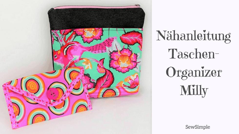Nähanleitung Taschen-Organizer Milly