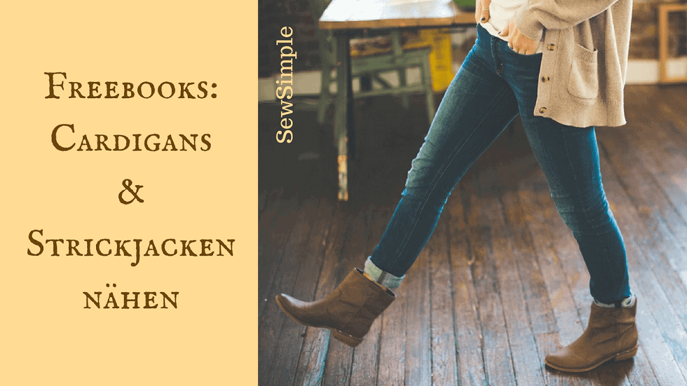 Freebooks: Cardigans und Strickjacken nähen | SewSimple