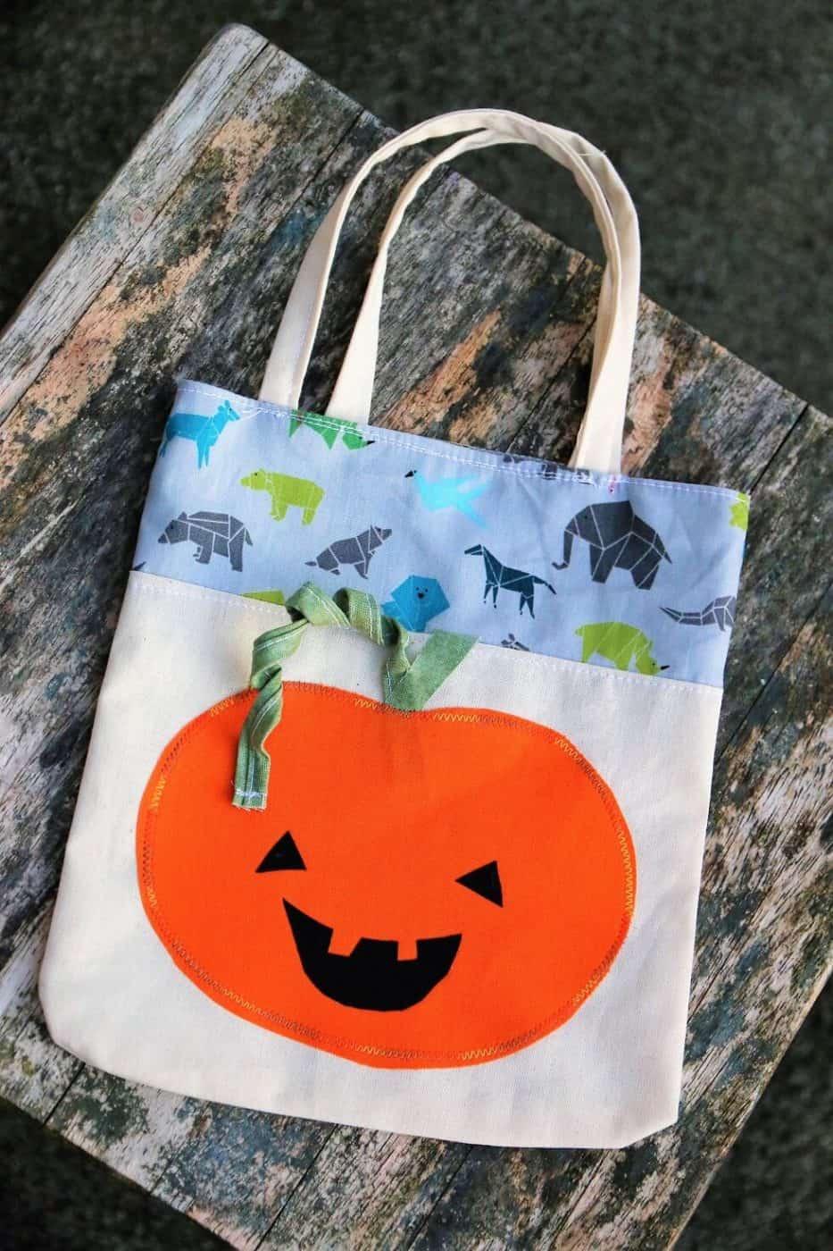 Tasche für Halloween nähen
