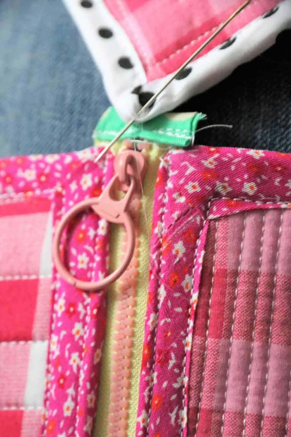 Eckige Tasche mit Reißverschluss nähen