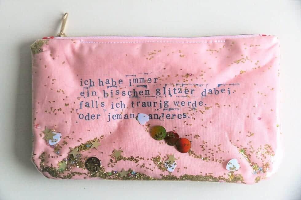 Tasche mit Glitzer nähen