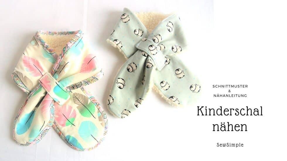 Ebook: Schal für Kinder nähen | Schnittmuster | SewSimple