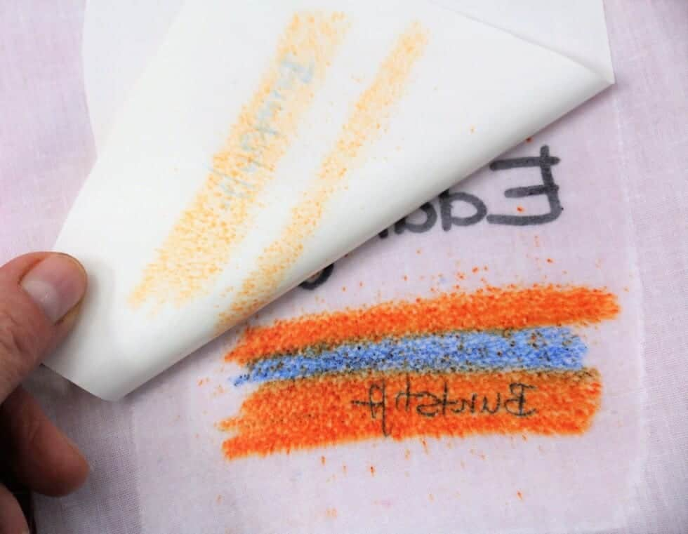Stoffdruck mit Buntstift, Kuli & Co.
