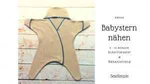 Schnittmuster Babystern