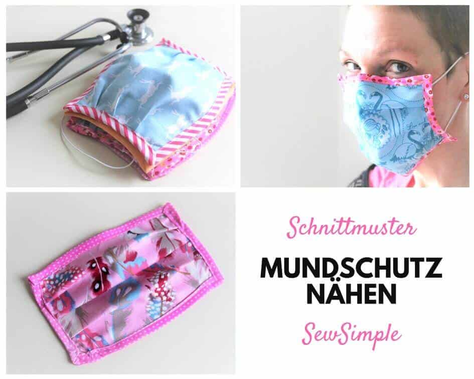 Anleitung: Mundschutz nähen | mit Schnittmuster | SewSimple
