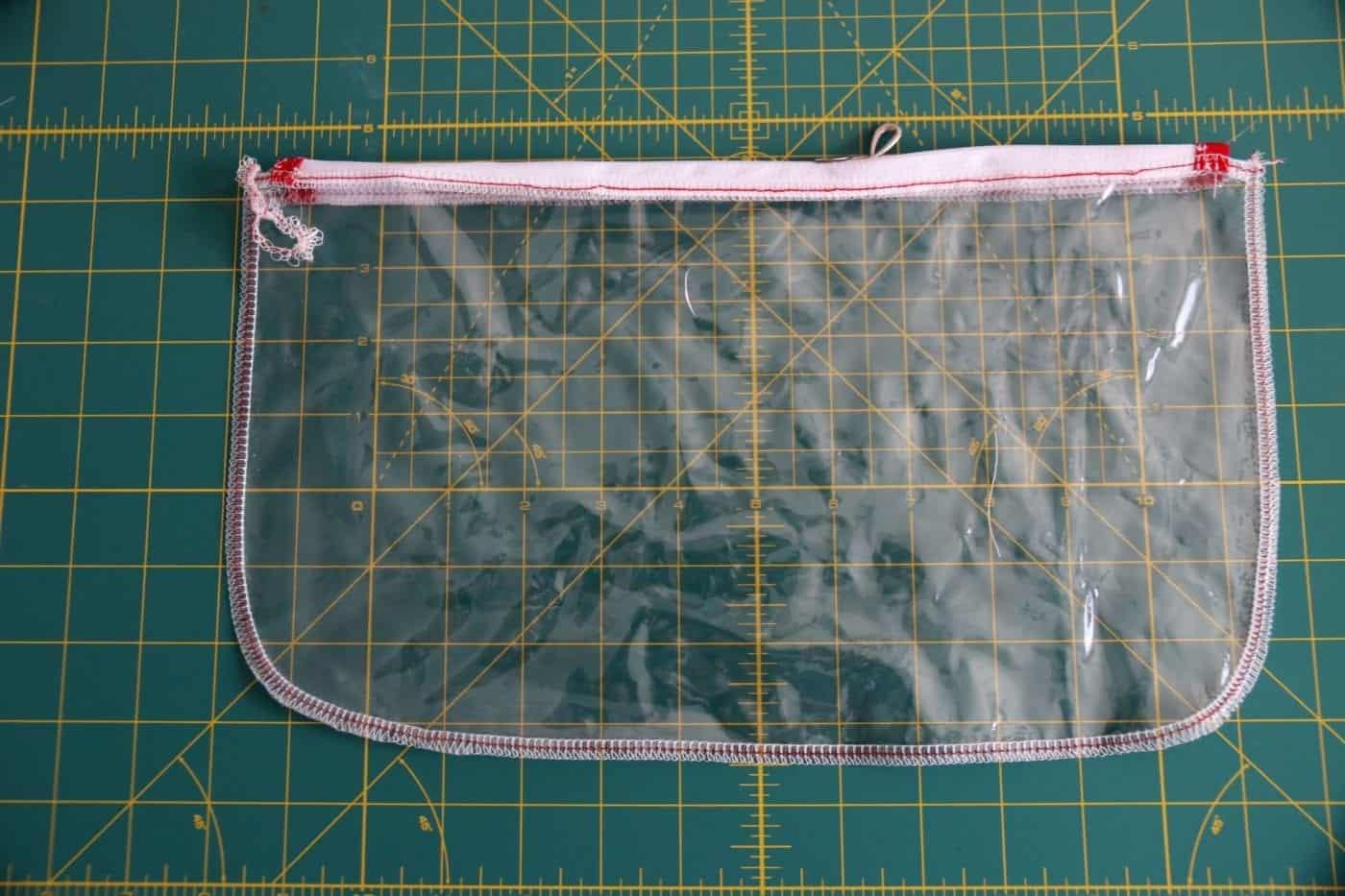 Tasche aus Klarsicht-Folie nähen