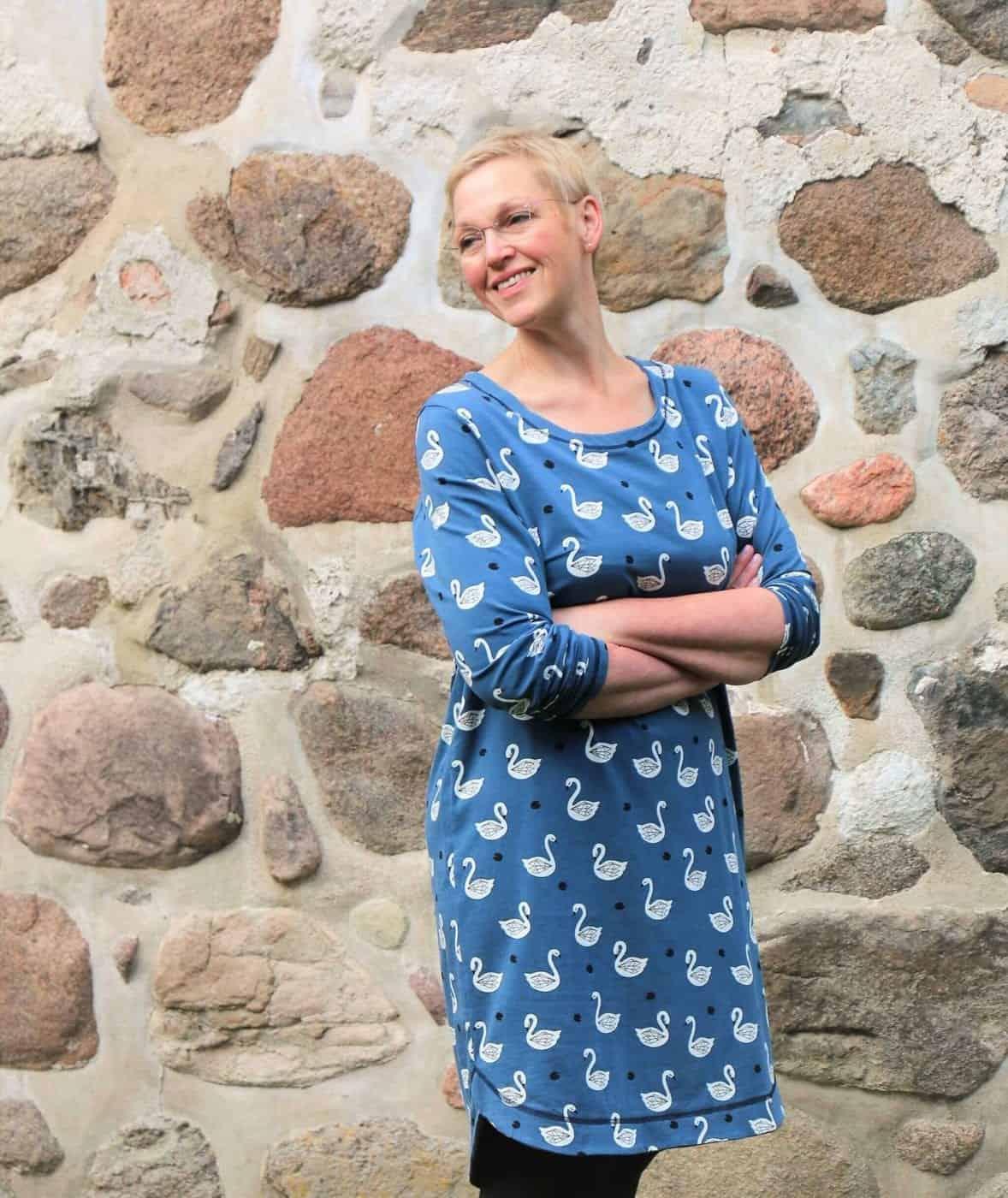 Damen Kleid Schnittmuster Roosmarei Grosse 32 60 Sewsimple