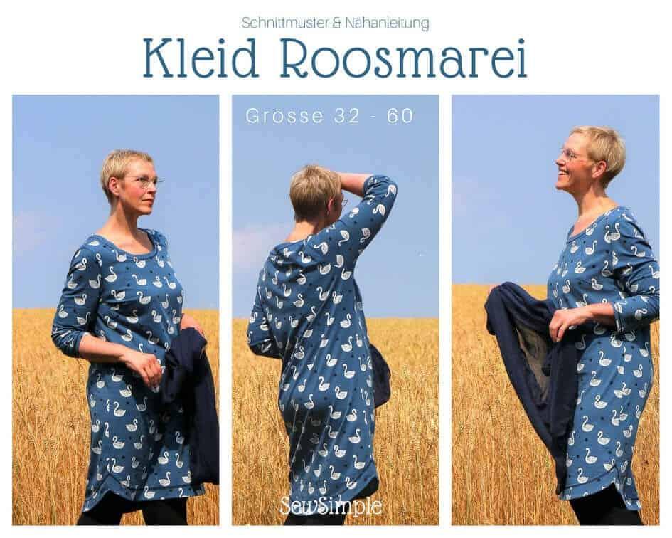 Auch in Plus Size: Kleid Roosmarei nähen | SewSimple