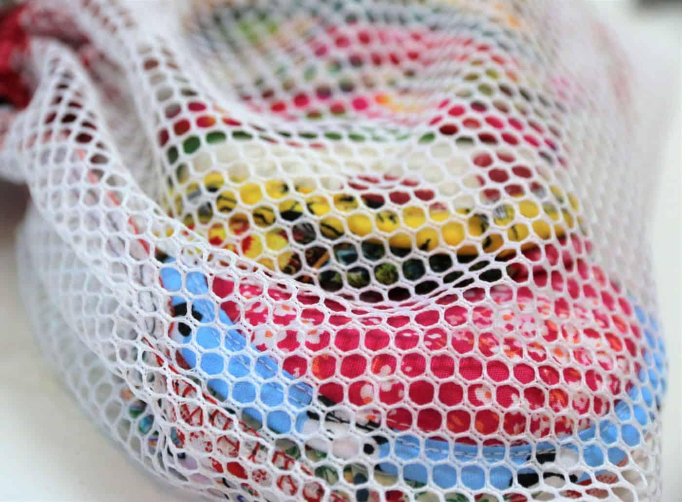 Abschminkpads mit Wäschebeutel nähen
