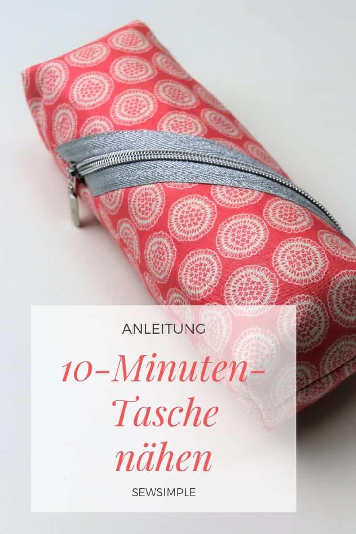 Tasche nähen in 10 Minuten