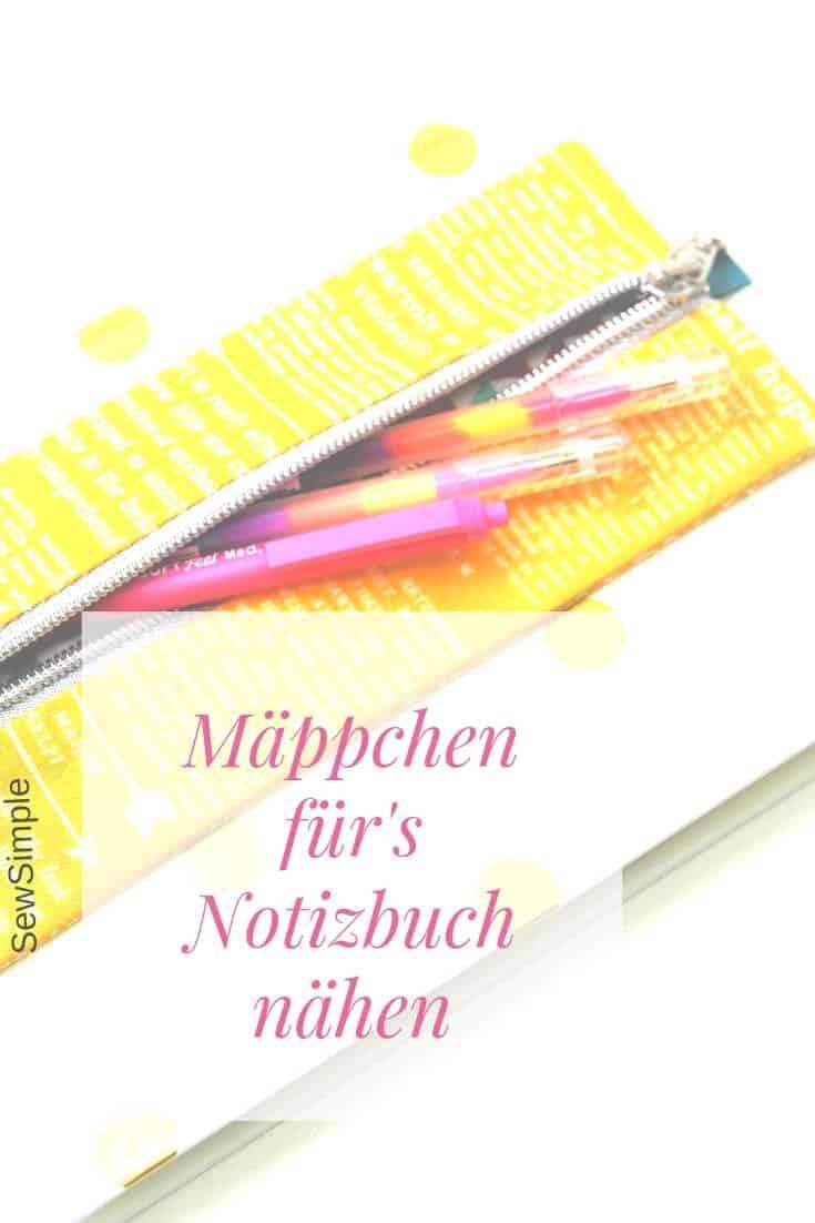 Mäppchen für's Notizbuch nähen