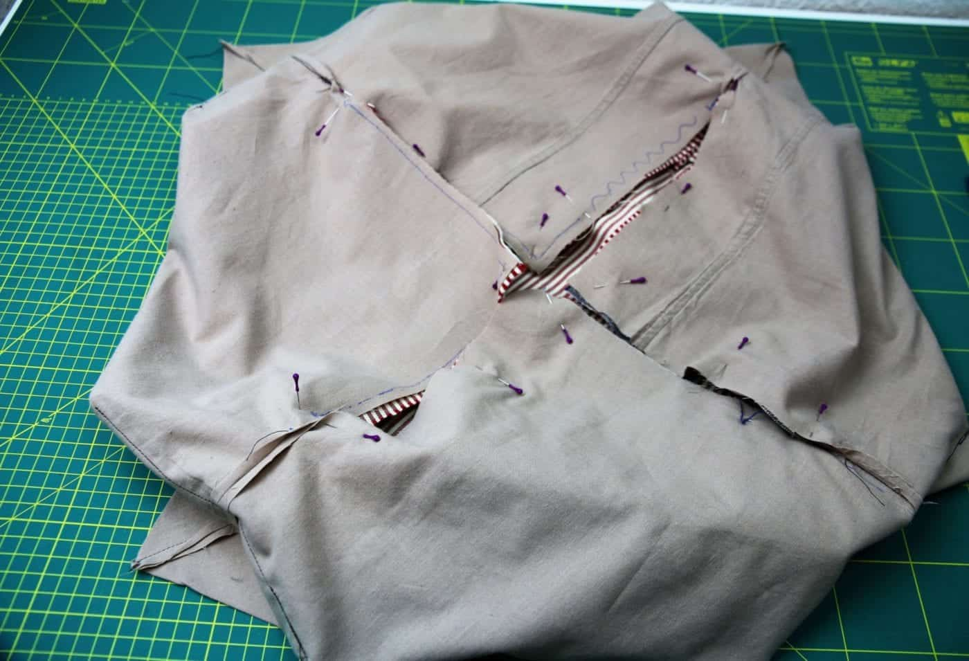 Japanische Tasche nähen