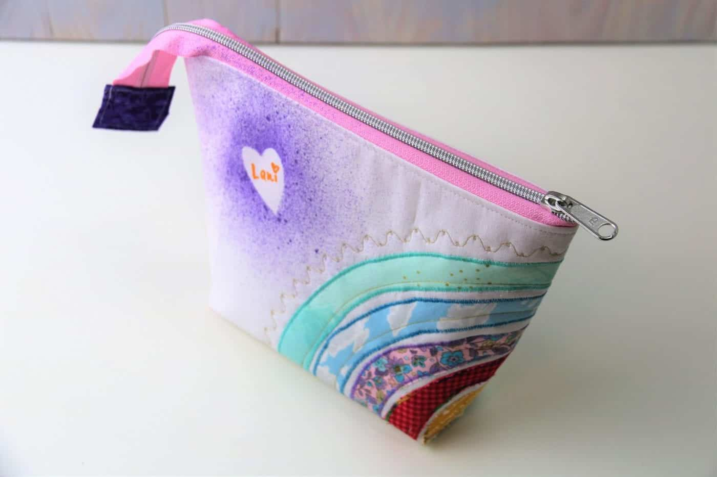 Tasche mit Regenbogen-Applikation nähen