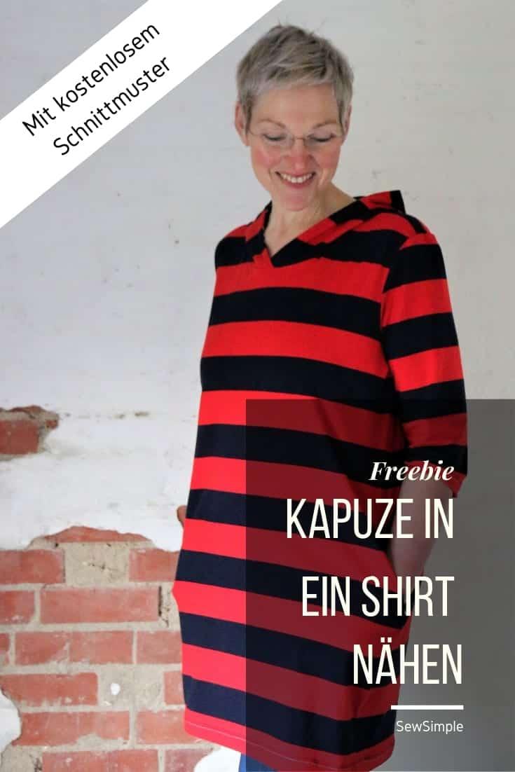 Kapuze in ein Shirt nähen