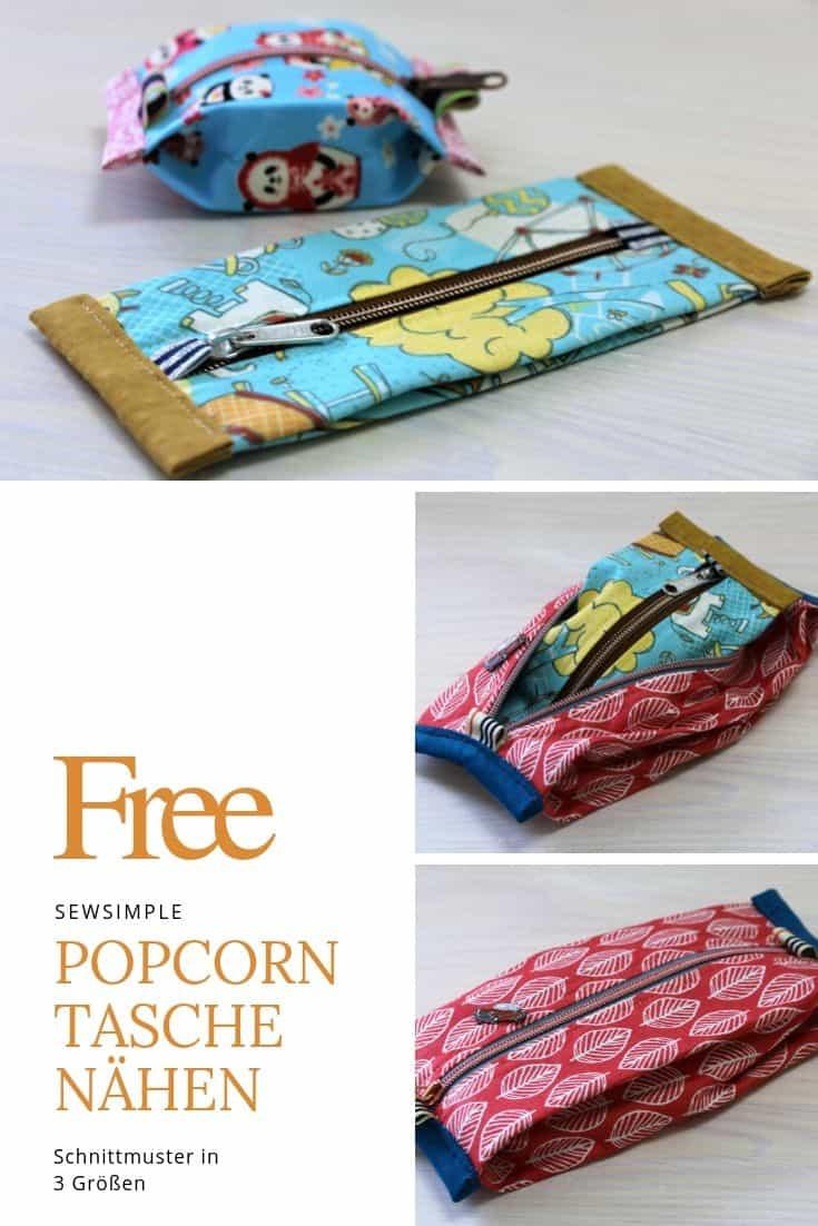 Popcorn Tasche nähen