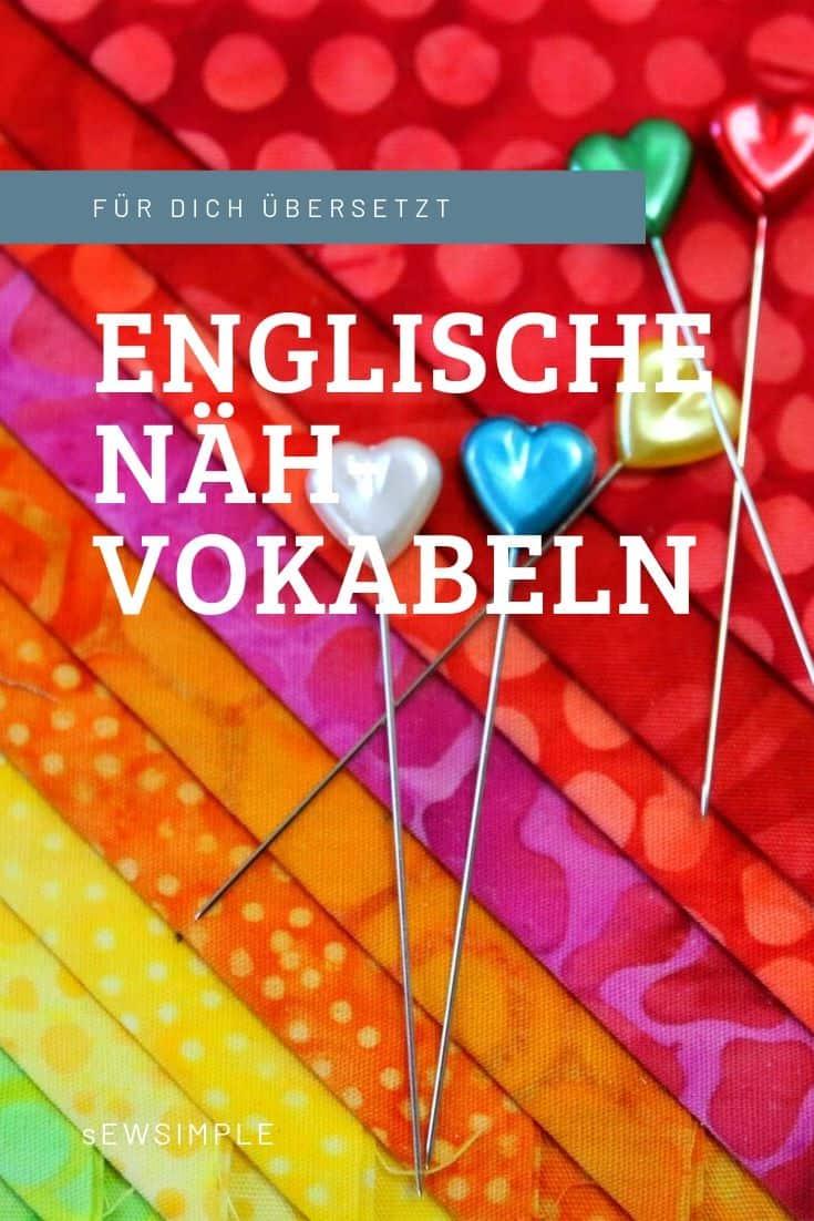 Englische Nähbegriffe übersetzen