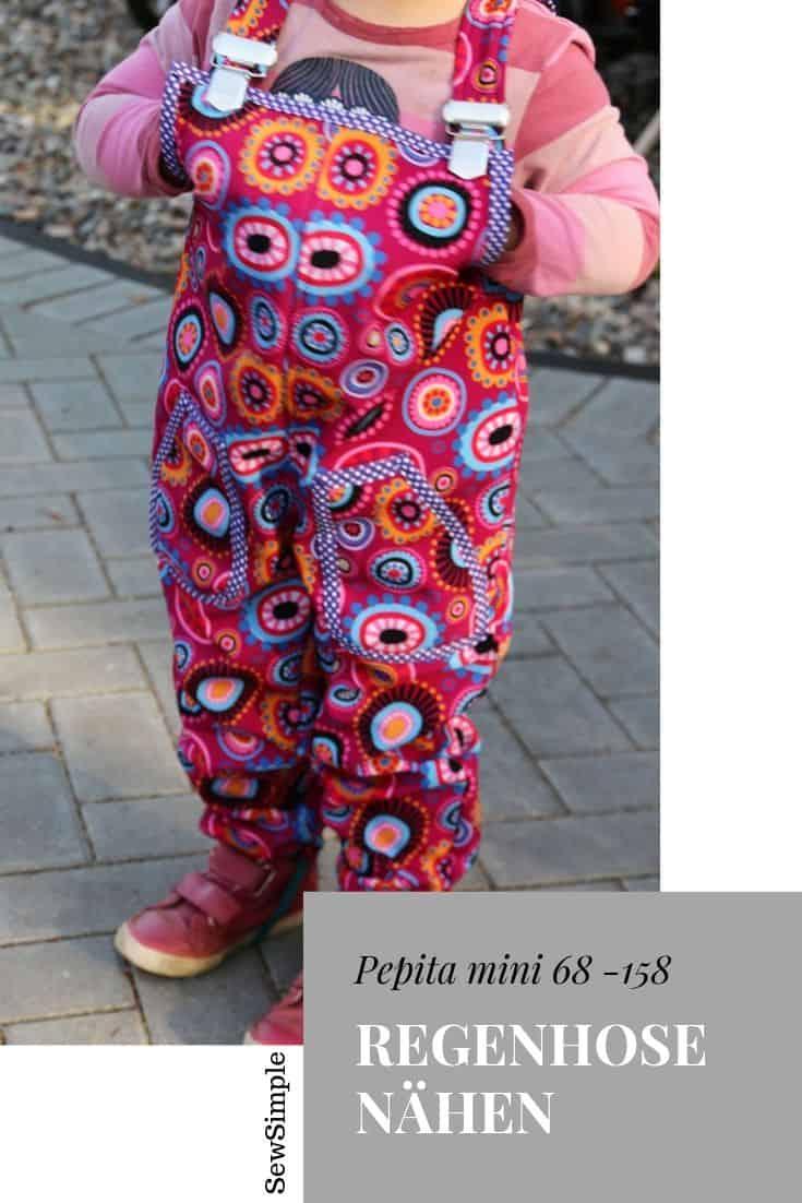 Matschhose/Regenhose für Kinder nähen