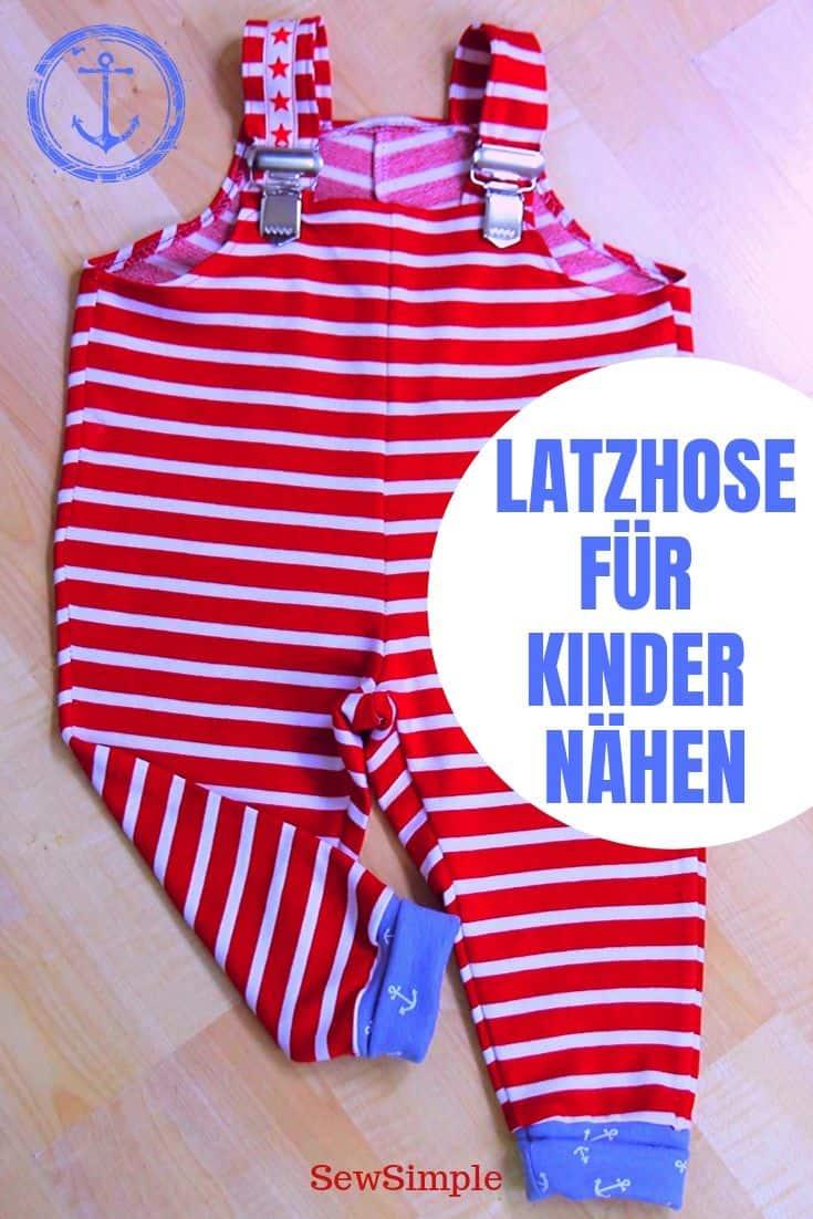 Latzhose für Kinder nähen