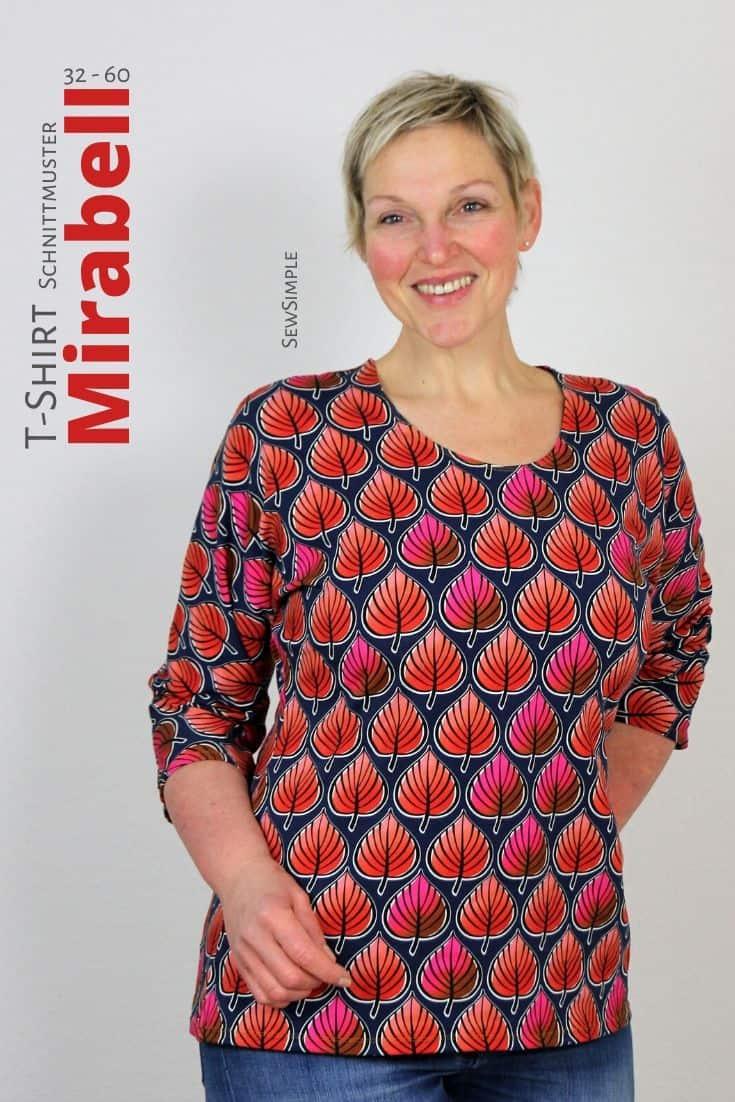 Schnittmuster T-Shirt Mirabell