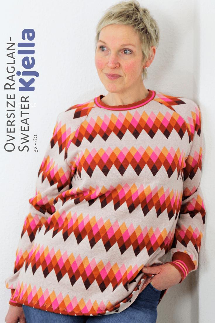 Oversize Raglan-Sweater nähen