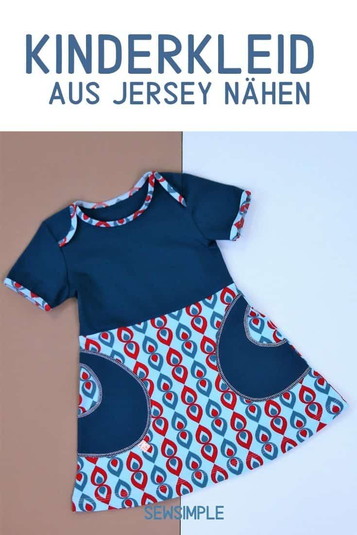 Kinderkleid aus Jersey nähen