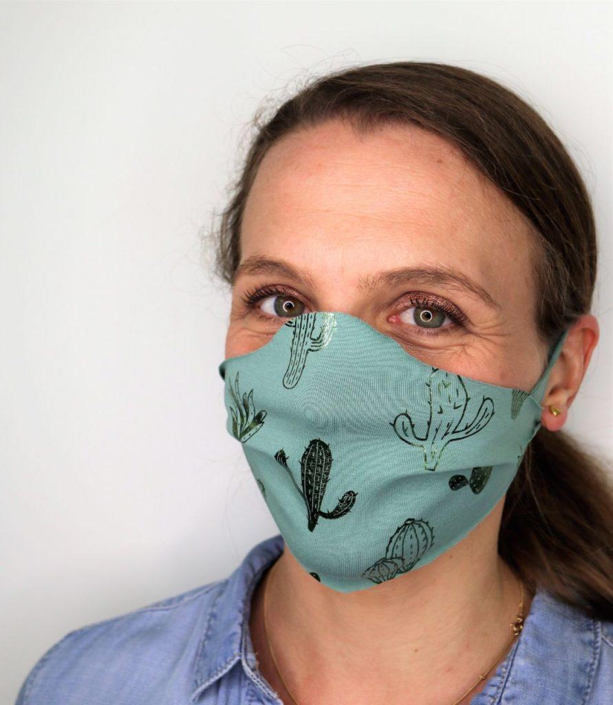 Maske basteln ohne Nähen