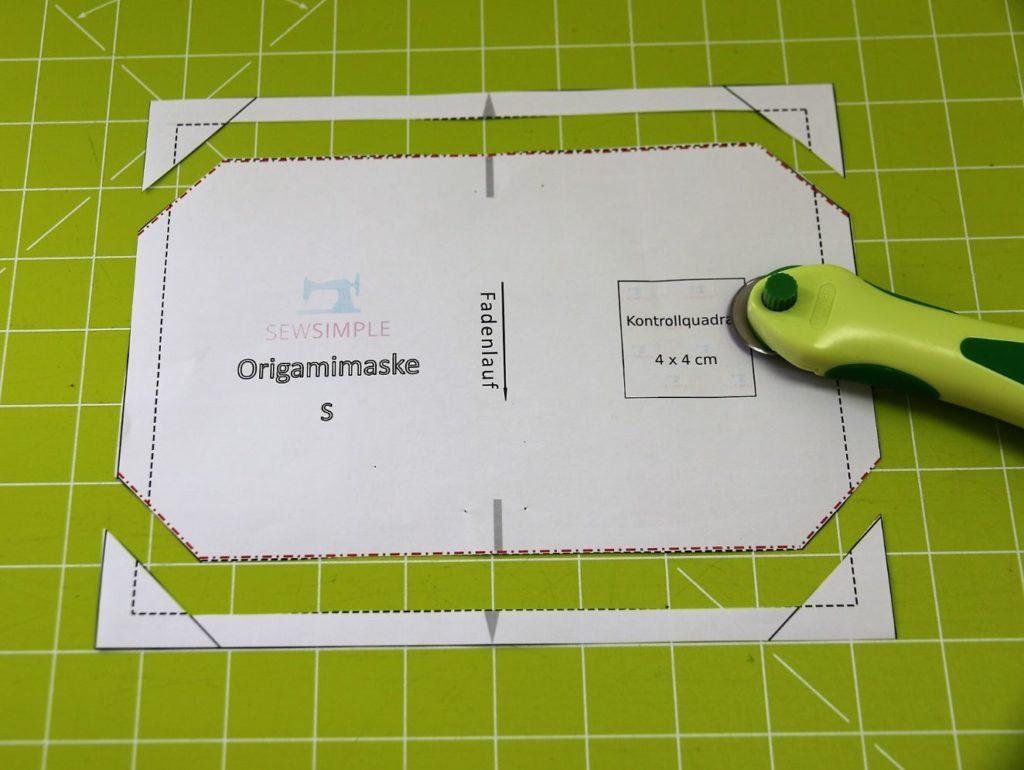 Origami Maske nähen