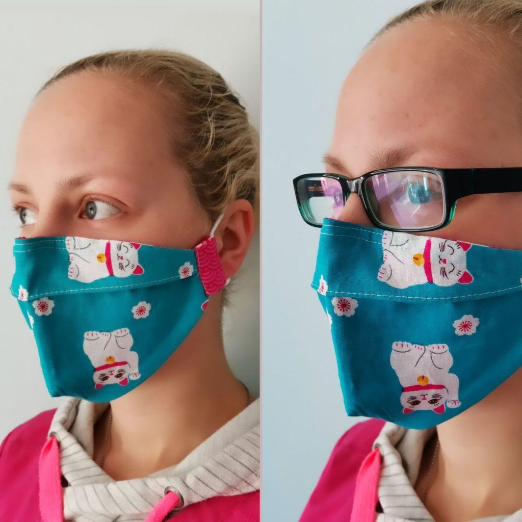 Maske für Brillenträger nähen