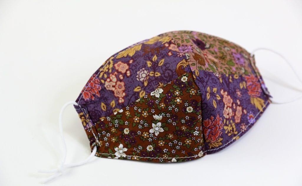 Patchwork Maske aus Stoffresten nähen