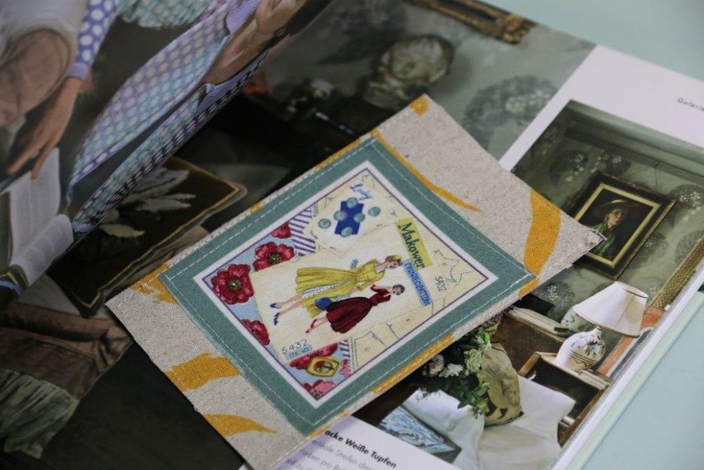 Postkarte nähen