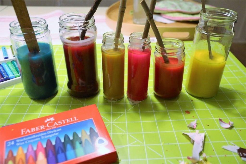 Kerzen färben
