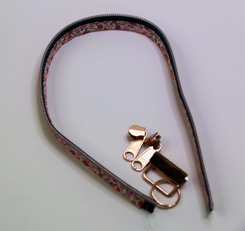 Schlüsselband aus Reißverschluss nähen