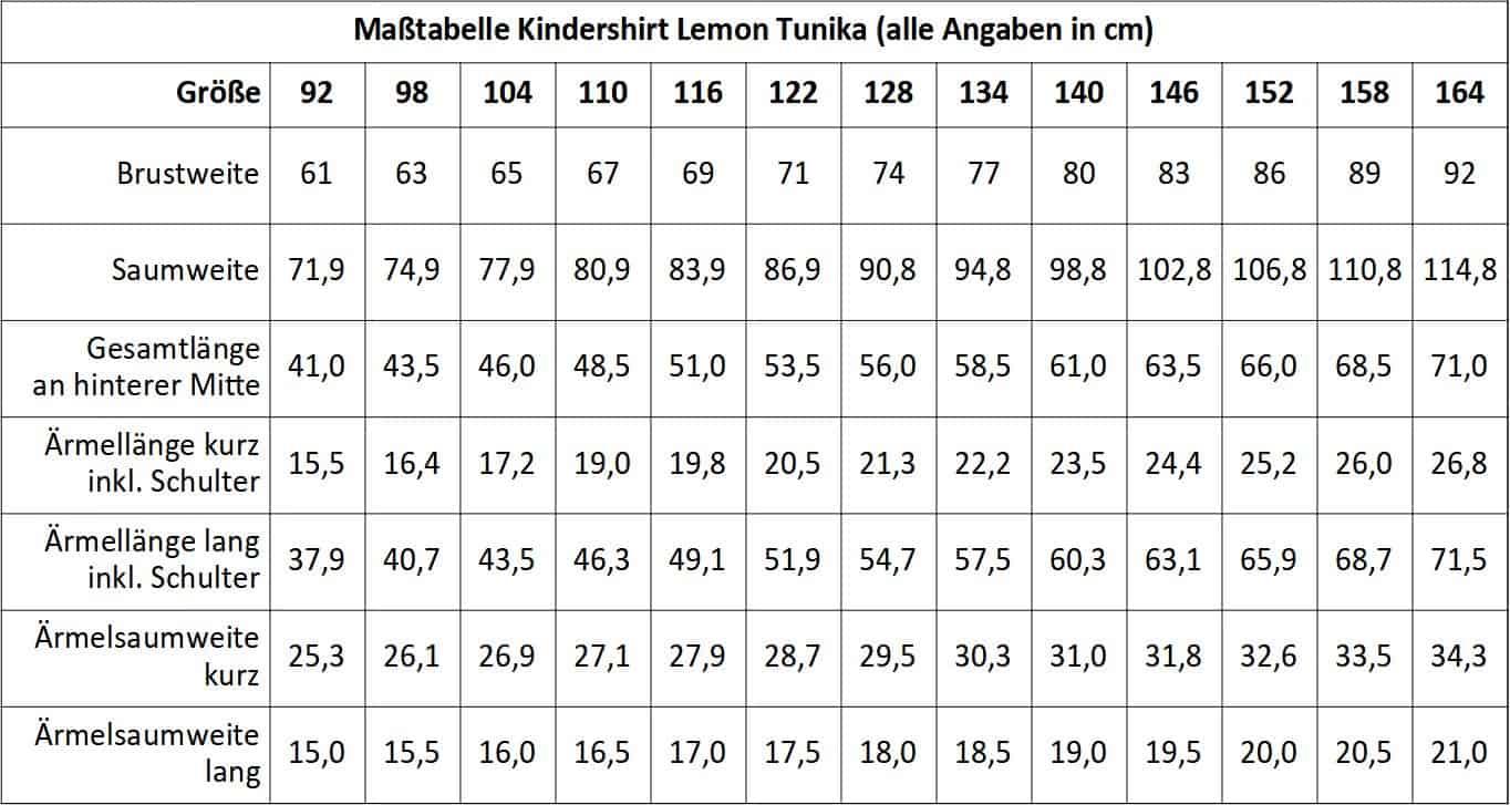 Tunika Lemon