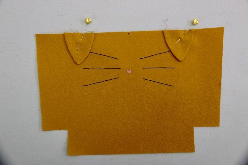 Kosmetiktasche in Katzenform nähen