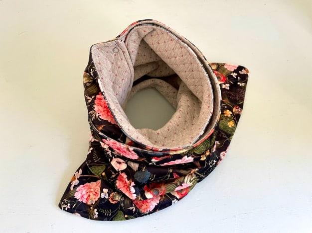 Loop-Schal zum Knöpfen nähen