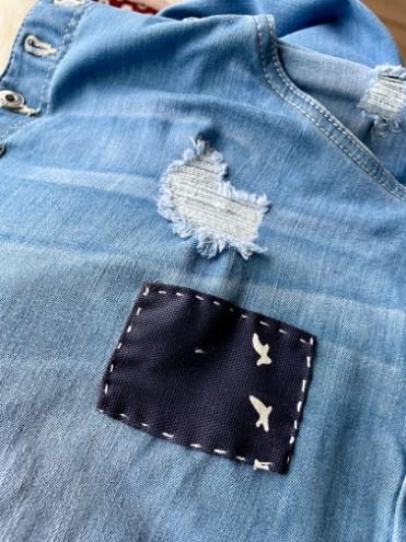 Jeans reparieren